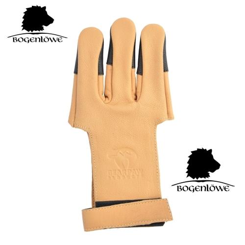Bogenhandschuh Schießhandschuh S-XL Bearpaw Deerskin Cordovan